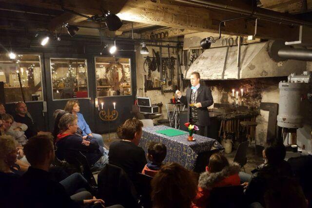 Roger Zeller in Action vor Publikum